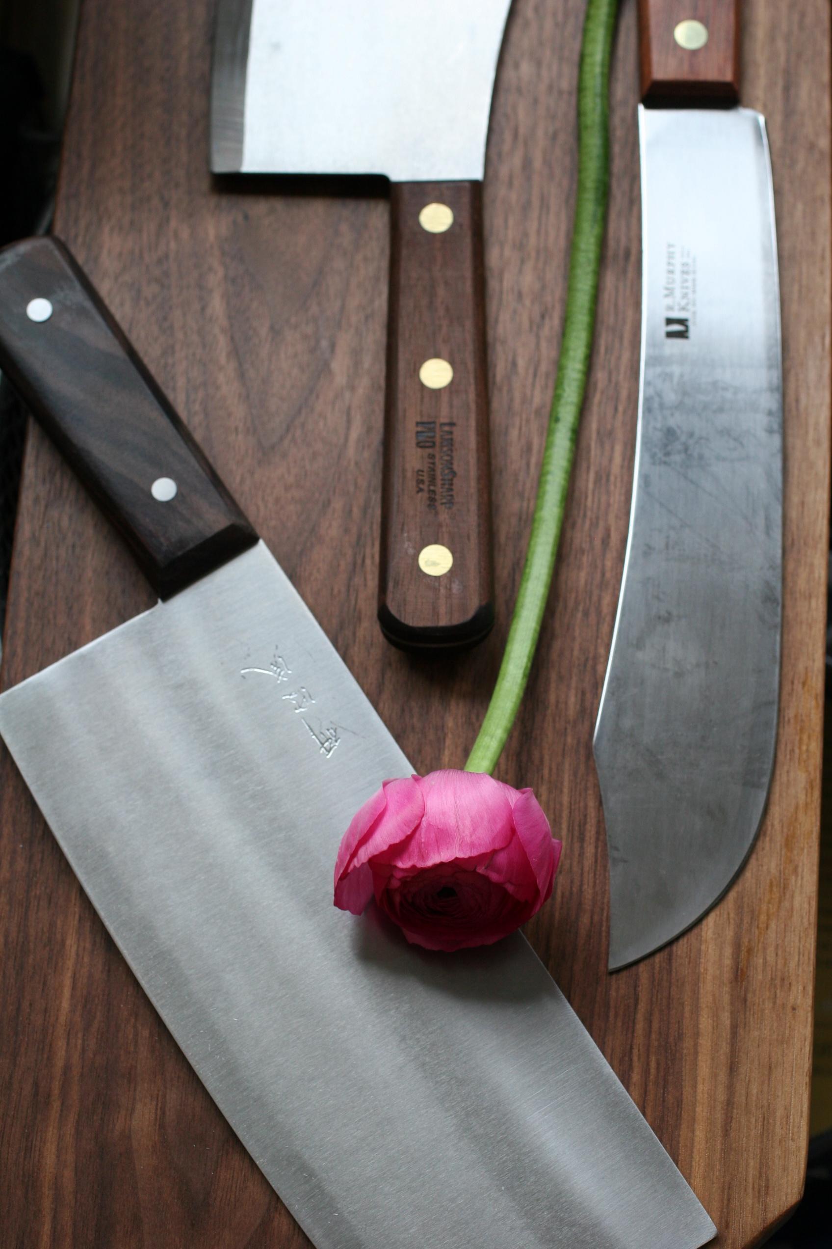 butcher knives flower