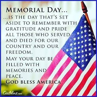 We will be closed Friday the 27th - Monday the 30th in observance of Memorial Day! Opening at 11:00 am on Tuesday the 31st!!