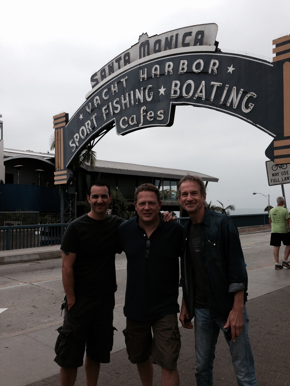 With Graham Maby and Tony Perruso at the Santa Monica Pier Los Angeles, California 2014