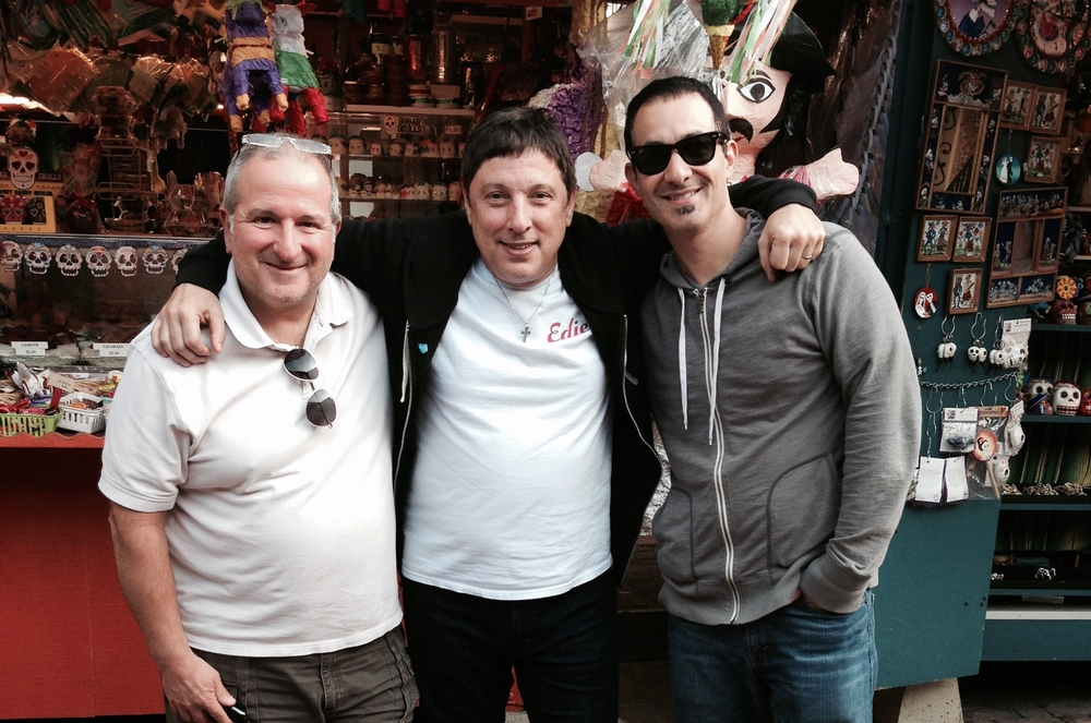 With actor Cleo Augusto and Bob Bandiera on Olvera Street-Los Angeles, California 2013