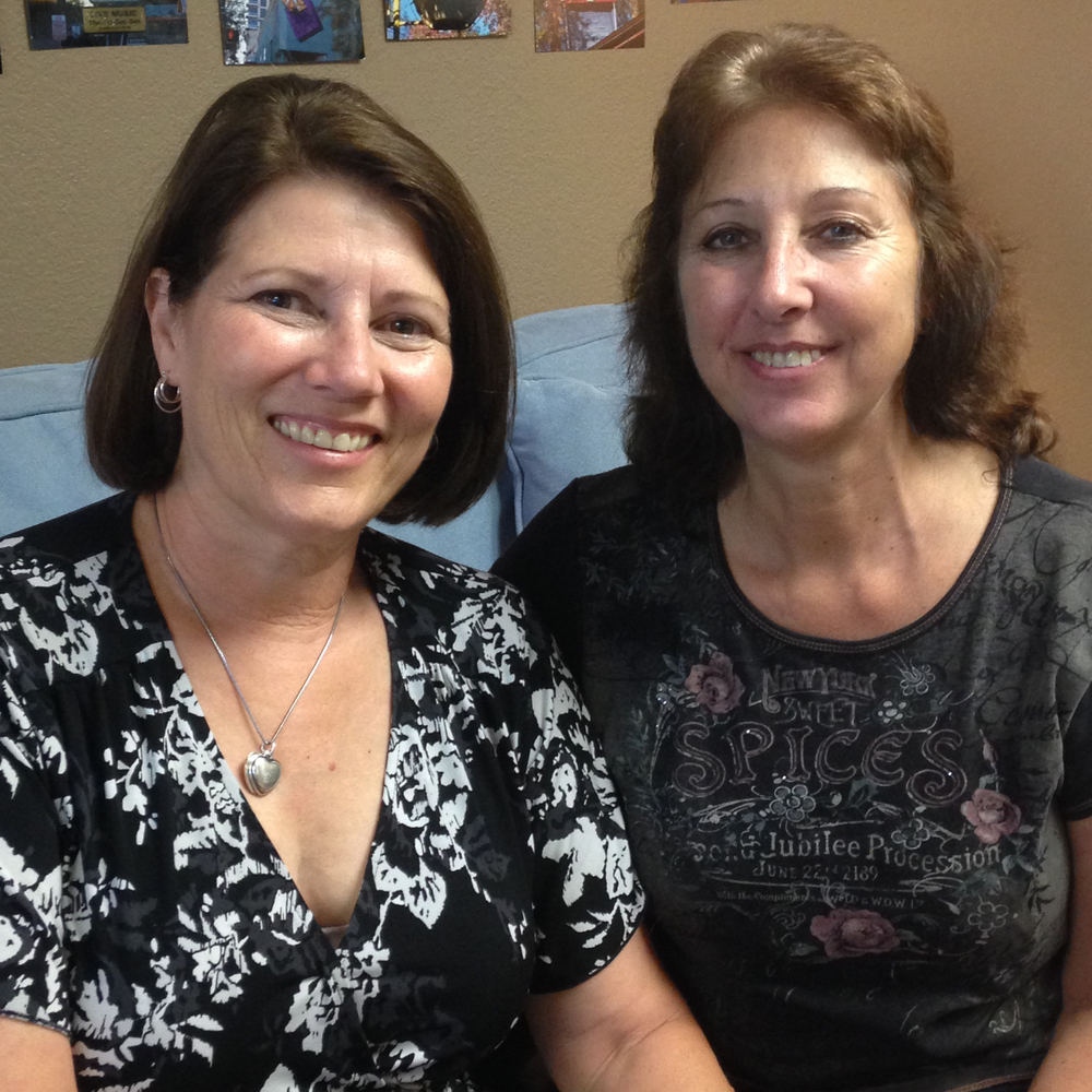 Michele (left) and her former mentee Regina (right) in 2015