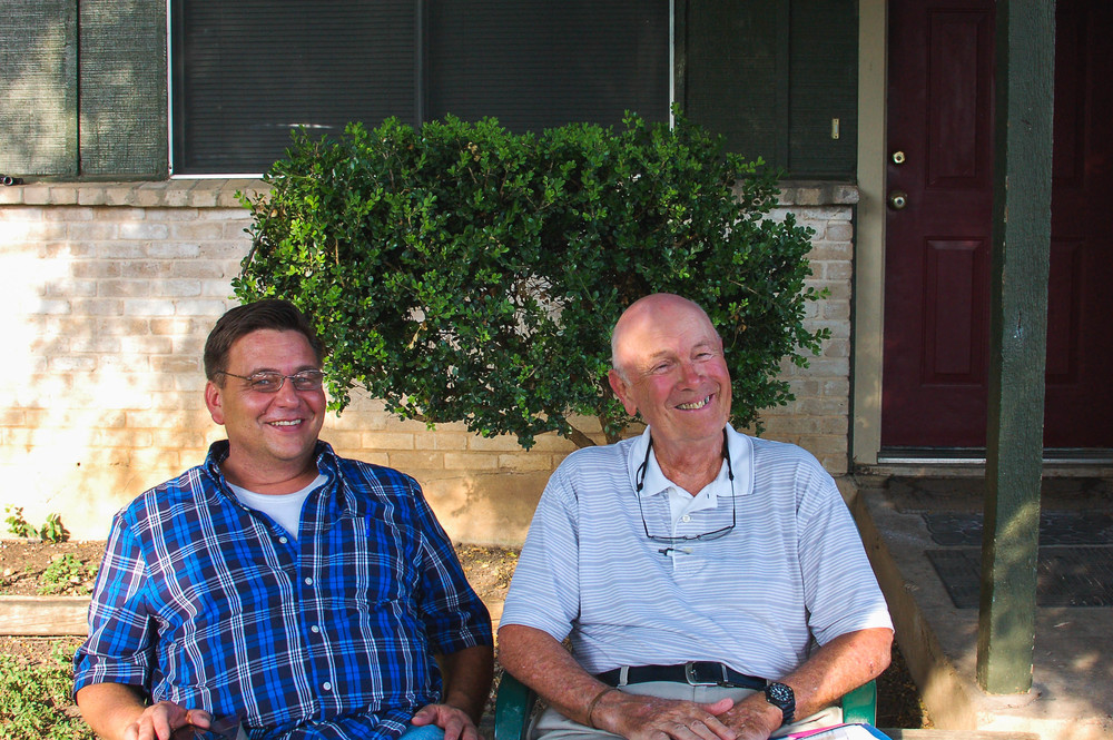 David (left) and his former mentor Duane (right) in 2015