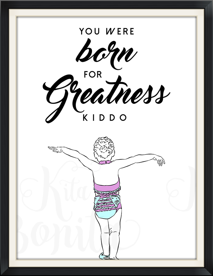 Sample custom illustration commission. Quote is from the client's first words to her daughter on the day she was born.