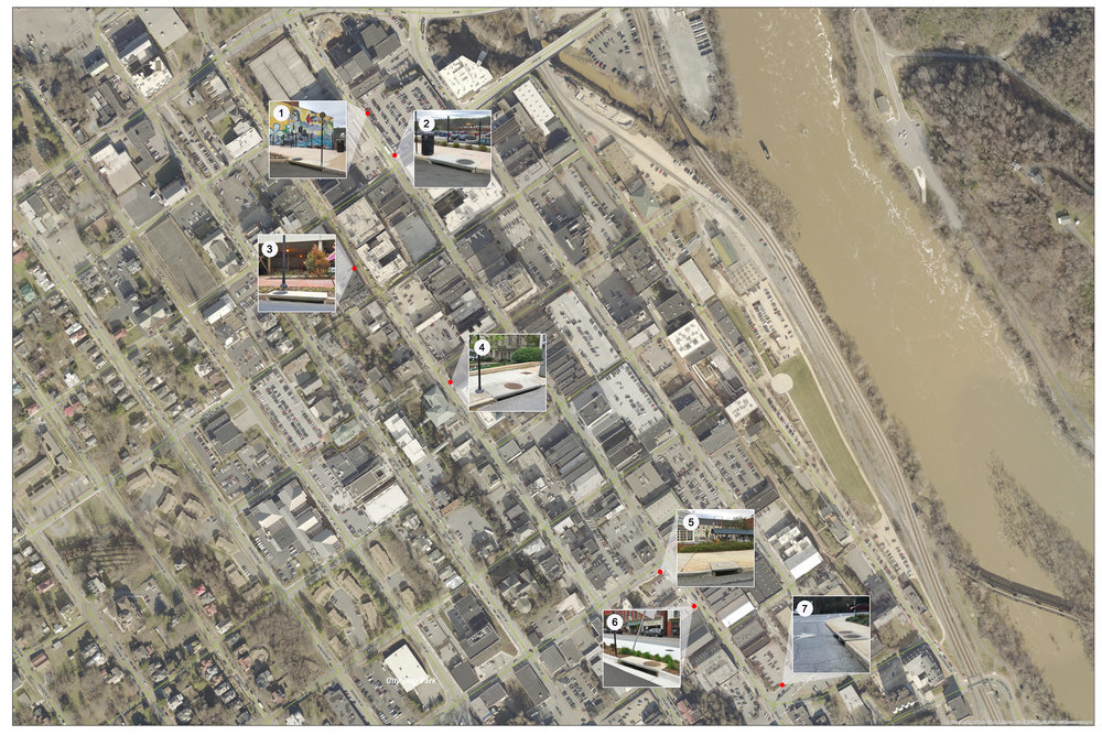 LOCATIONS - Seven storm drains throughout Downtown Lynchburg are set to be included in the project.