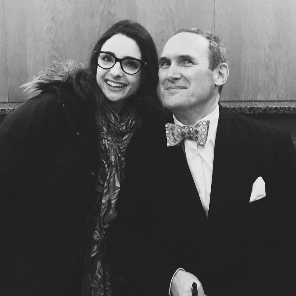 ...and a brief moment of this...(me with critic & author A.A. Gill)...