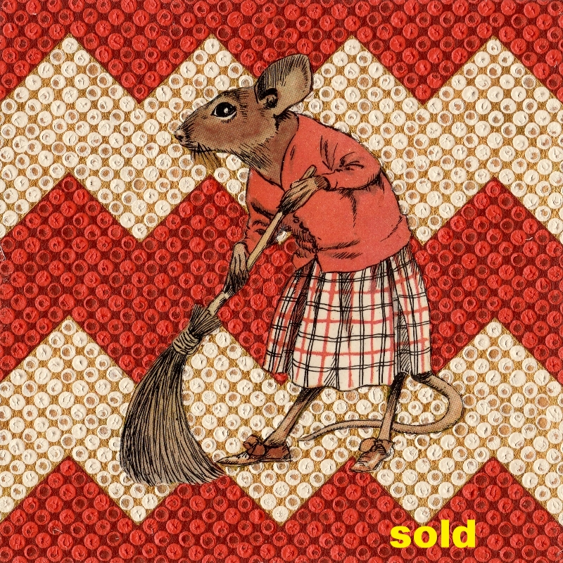 Mrs Mouse Cleans House SOLD