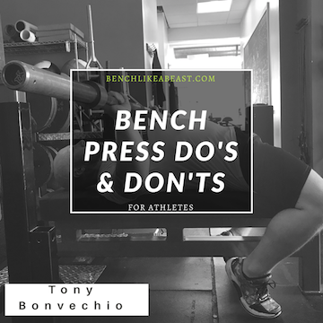 ... Of The Strength House And Former Cressey Sports Performance Coach Tony  Bonvechio. Tony Is THE Guy When It Comes To Anything Bench Pressing Related  And ...