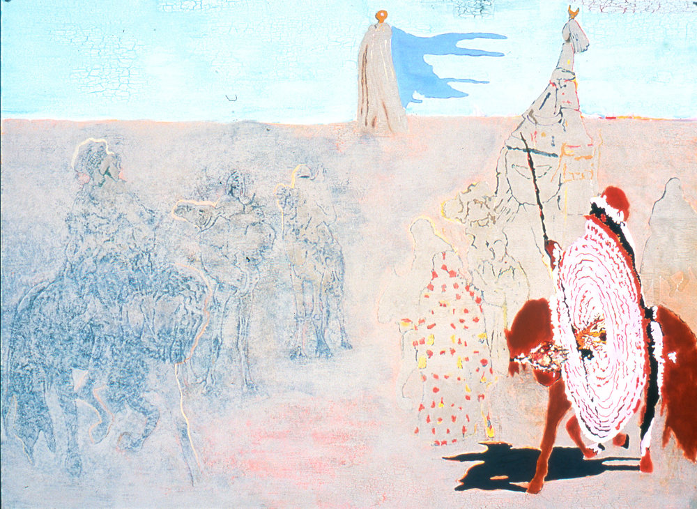 "Red Ryder 1994 Mixed Media 52"" x 72"""