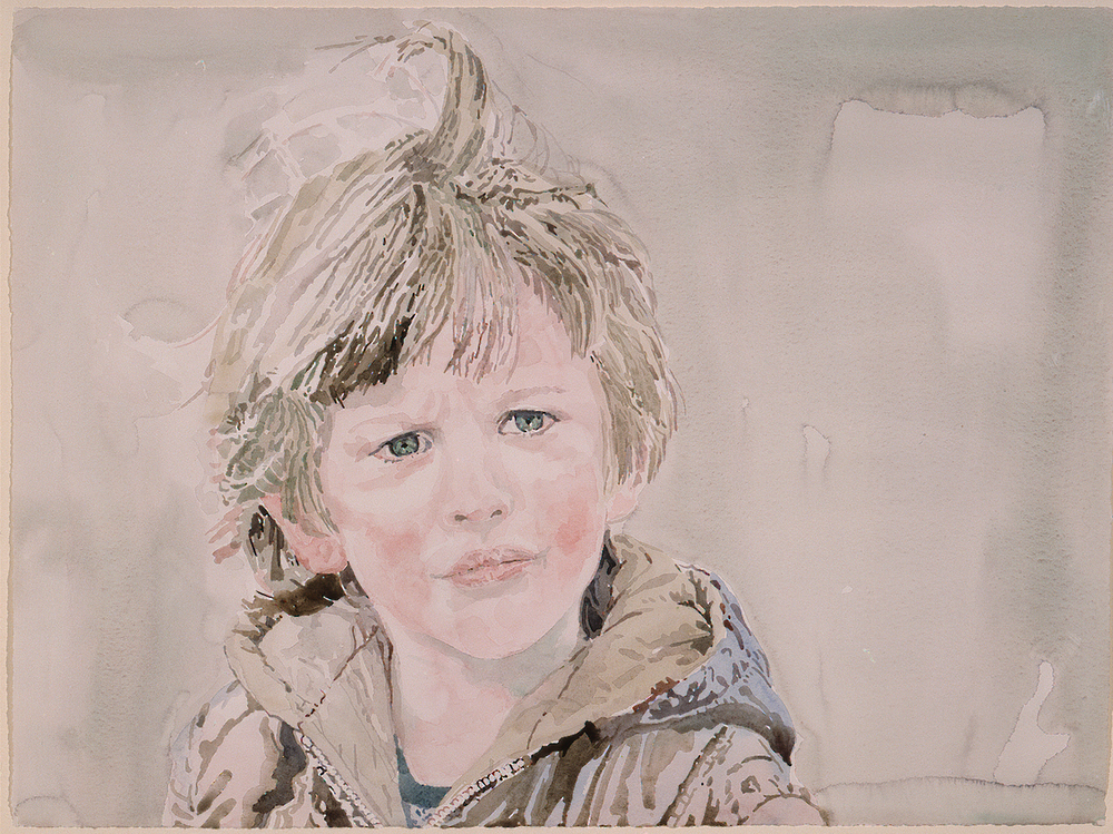 "Reuben  Watercolor 22""x30"""
