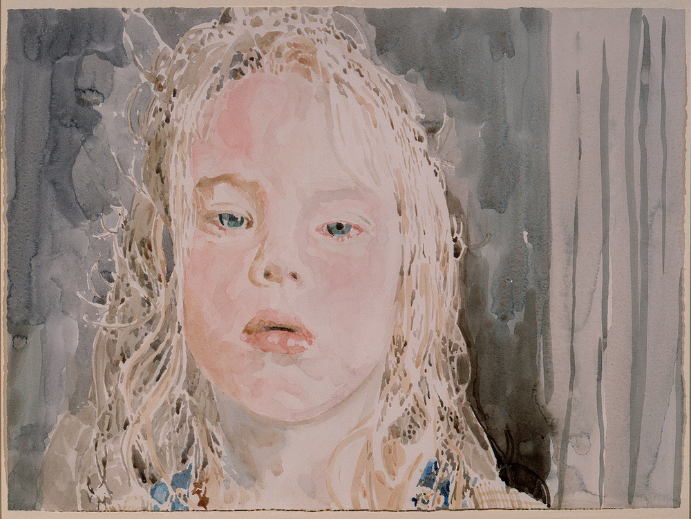 "Rachel  Watercolor 22""x30"""