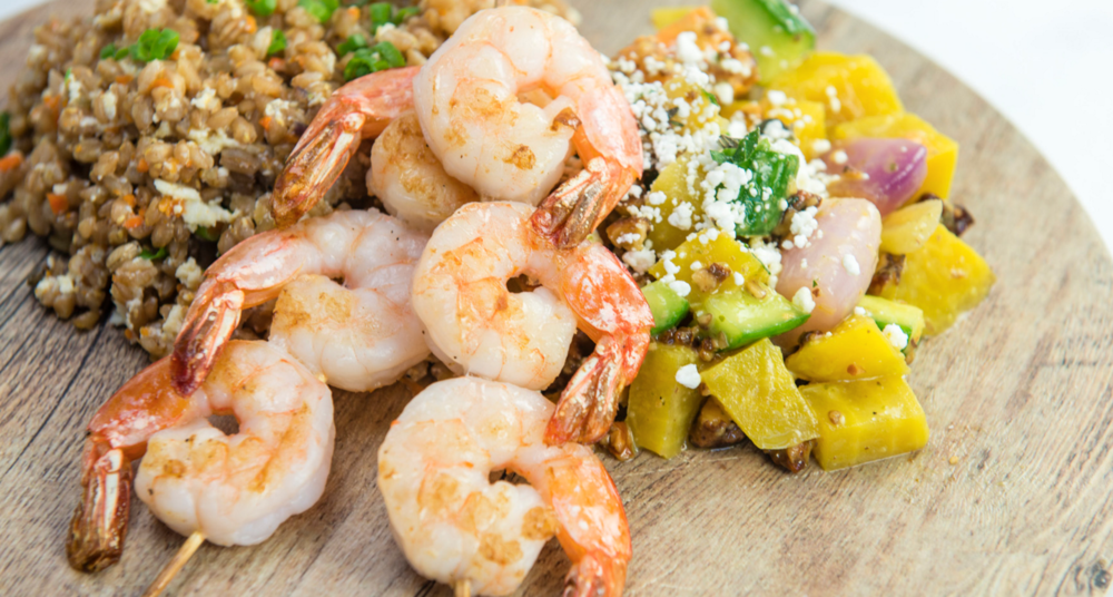 Shrimp Entree from Greenleaf ChopShop | photo courtesy of Greenleaf