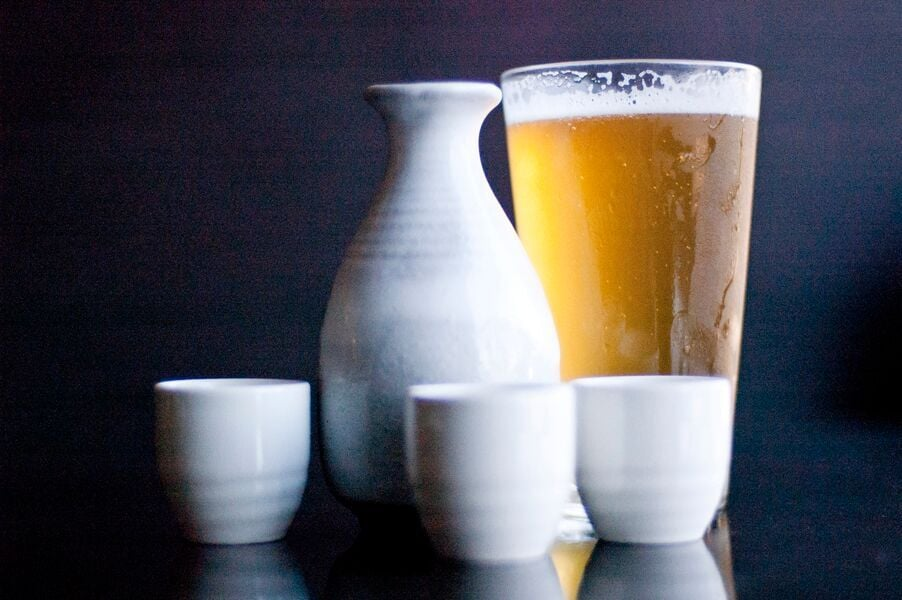 All You Can Drink Sake on Tuesday's | photo courtesy of 100eats
