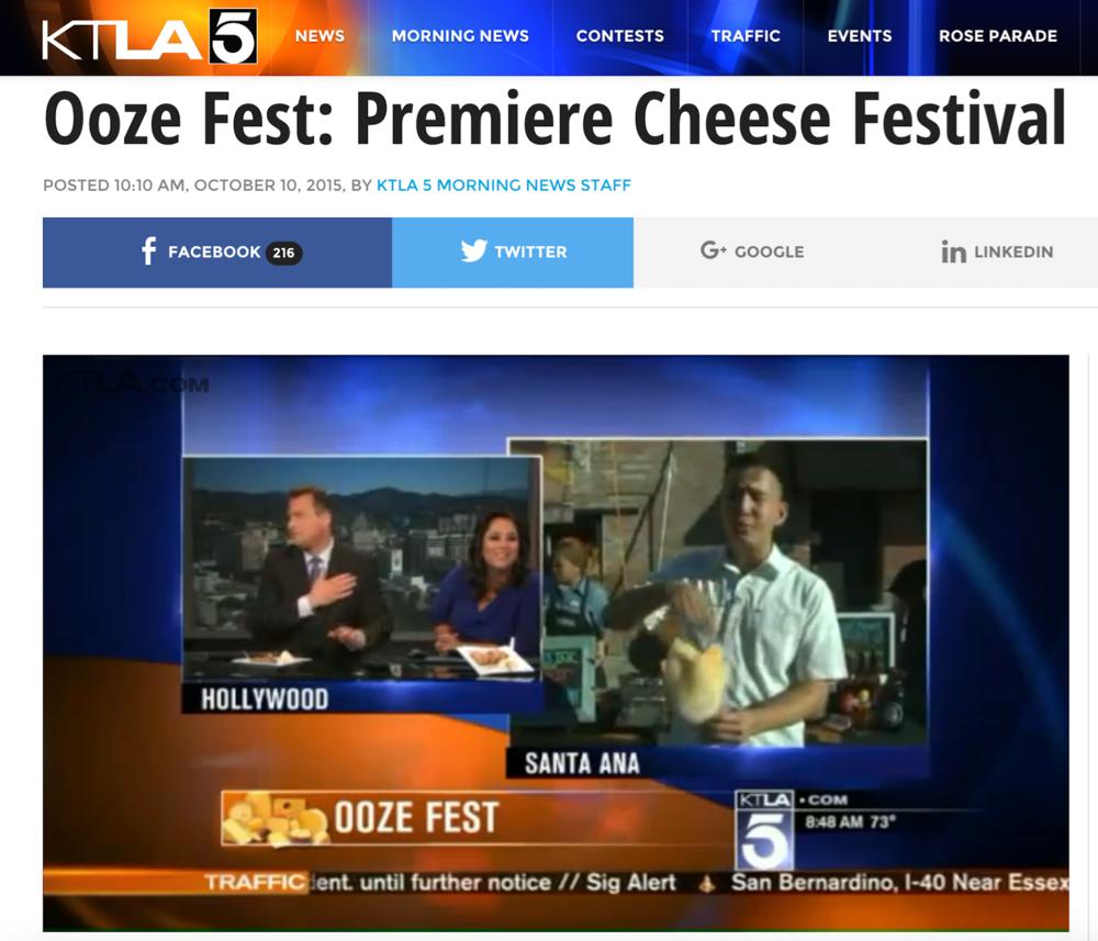 Live 5 minute TV News Segment for OOZEFEST on KTLA5