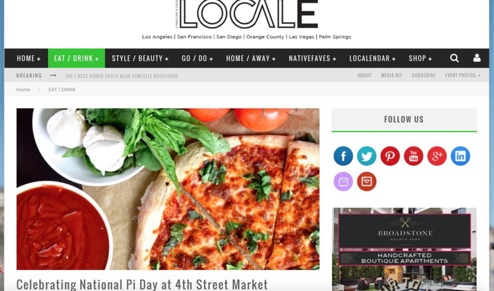 Locale Article highlights 4SM's new tenant Jinny's Pizzeria's Pi Day celebratory offerings,Grand Opening festivities, as well as their business philosophy
