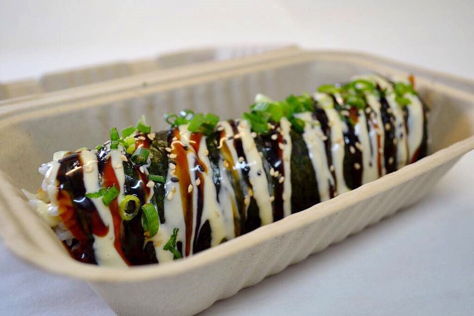 Sam Choy's Poke to the Max Musubi, Seattle | photo courtesy of Sam Choy's