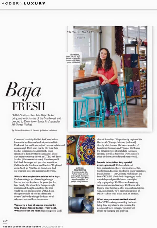 Modern Luxury's July & August 2016 Issue highlight's Alta Baja's Grand Opening at 4SM