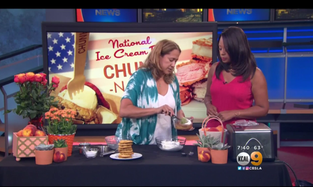 KCAL 9 Morning Segment features 4SM's Chunk N Chip for National Ice Cream Day
