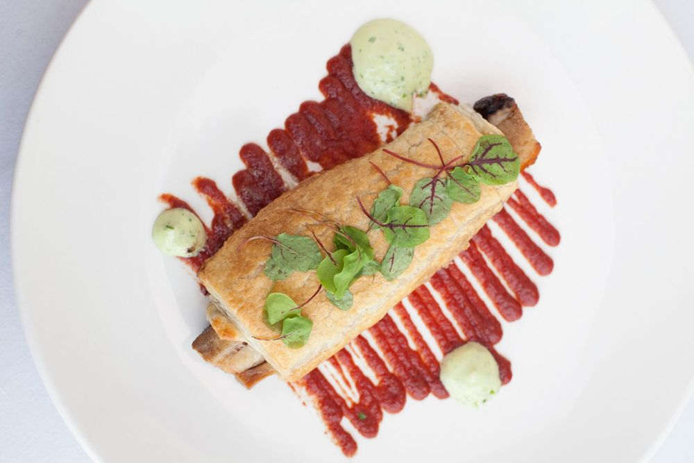 Citizen Kitchen's Pork in a Comforter dish by Chef Zachary Geerson, located at Hotel Fullerton