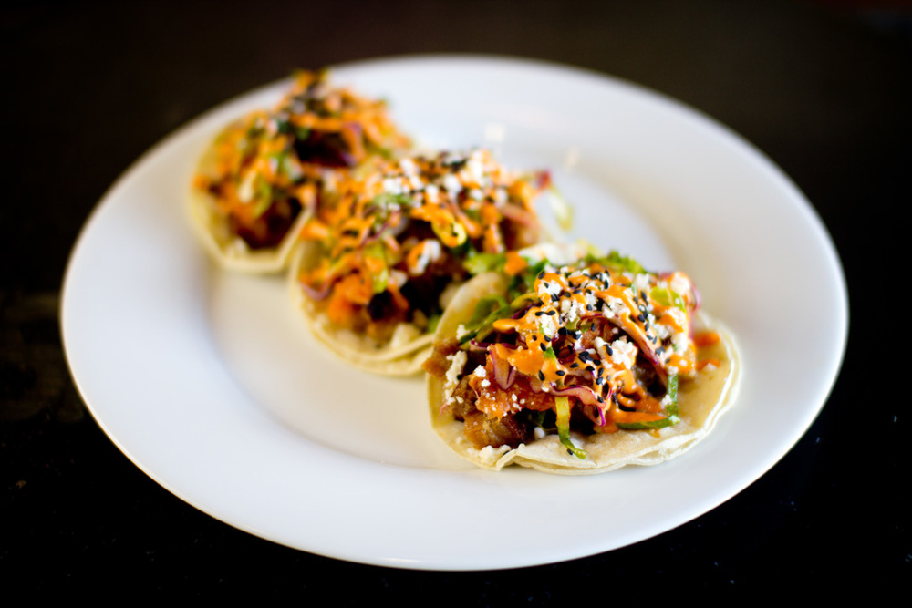 Urban Seoul's Pork Belly Tacos, located at the Irvine Spectrum | photo courtesy of Urban Seoul