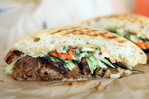 Mendocino Farms' Kurobuta Pork Belly Banh Mi | photo courtesy of Sarah Woo