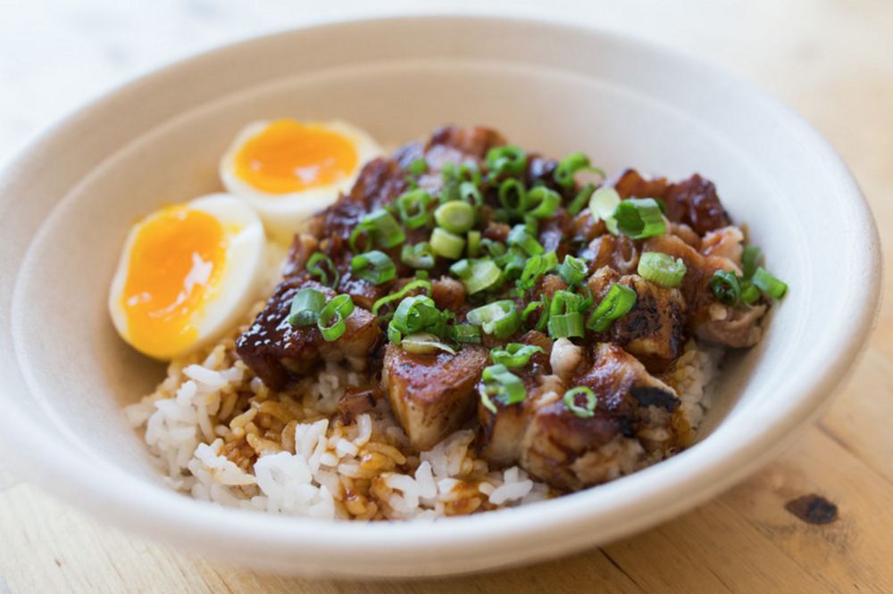 Oi Asian Fusion's Adobo Bowl, located in Hollywood | photo courtesy of Oi Asian Fusion