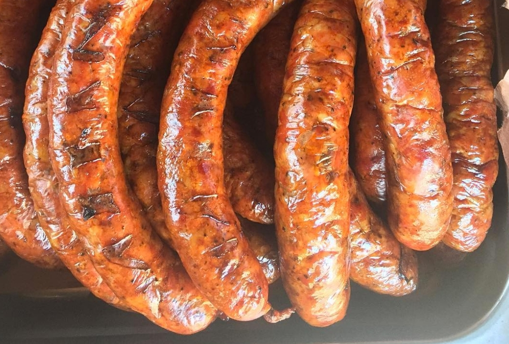 Micklethwait's Pork Belly Andouille Sausage, located in Austin | photo courtesy of Micklethwait Craft Meats on Instagram