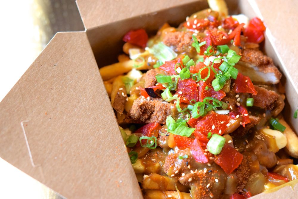 Japanese Katsu Curry poutine | photo courtesy of 100eats