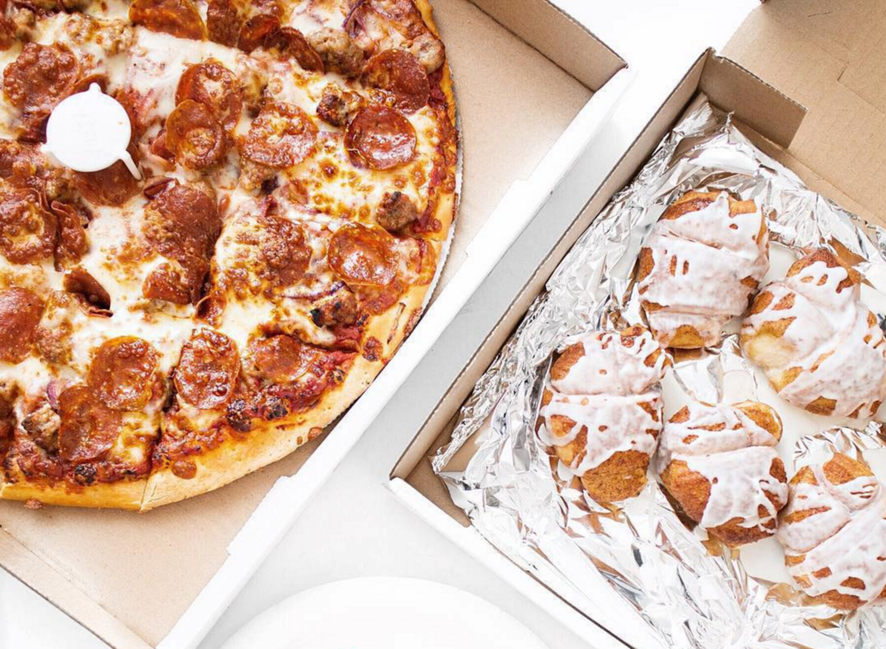 Pepperoni Pizza & Sweet Knots | photo courtesy of @sylviageatery on instagram