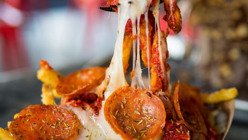 Pepperoni Pizza Fries soon to hit the streets at OOZEFEST 2016 in DTSA.