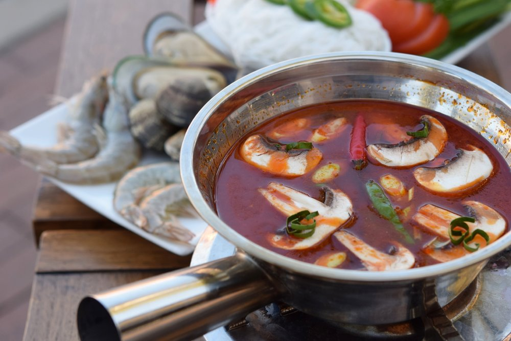 Spicy Seafood Hot Pot from The Wharf | photo courtesy of 100eats