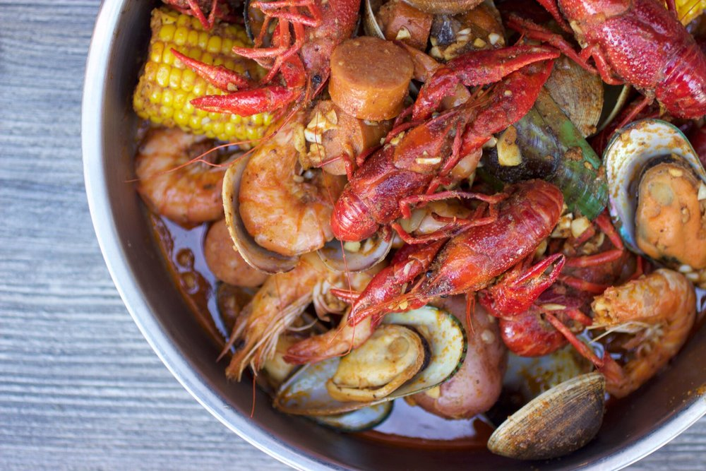 Wild Crab's popular Crawfish Bake | photo courtesy of 100eats