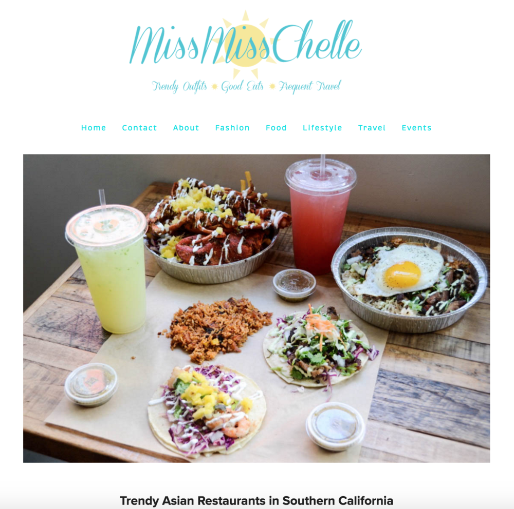 MissMissChelle Blog and Instagram posts highlight Dos Chino