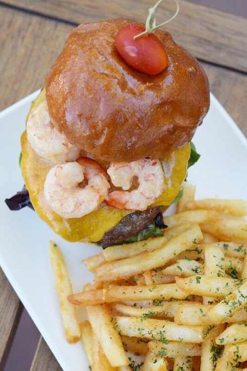 The Wharf's Surf n Turf Burger | Photo courtesy of 100eats