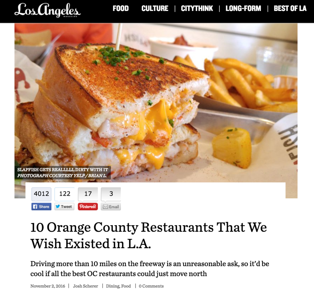 LA Mag article highlights their favorite OC restaurants including 4SM vendor Dos Chinos