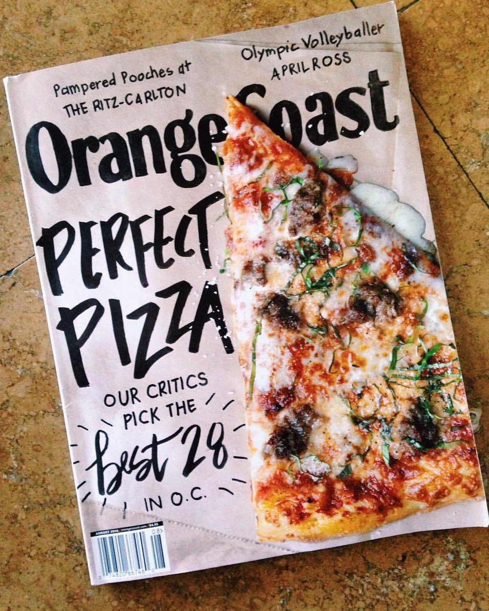 Orange Coast Mag article selects the best 28 pizzas in OC and highlights 4SM's Jinny's