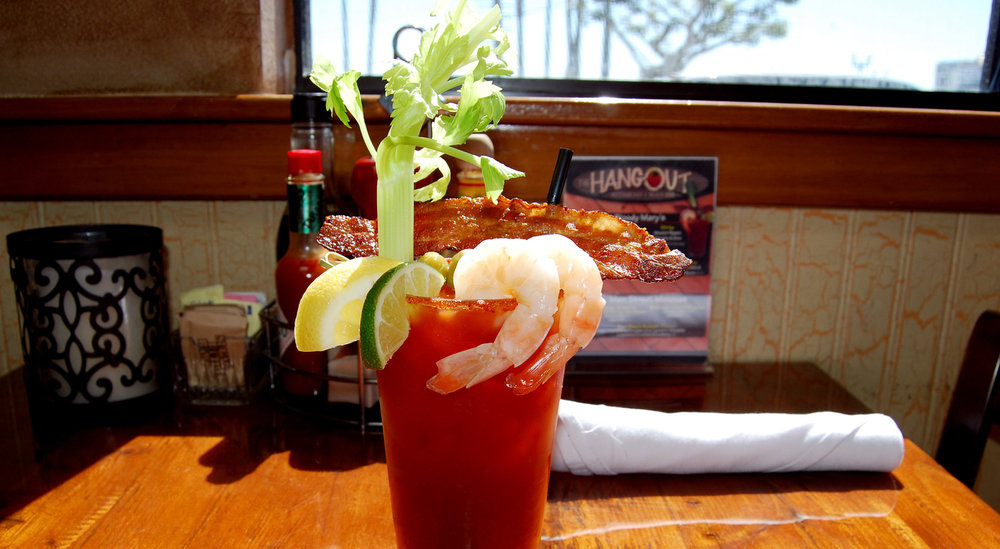 The Hangout's Bloody Mary, bathed in a heavenly light for its godsend status | Photo courtesy of The Hangout