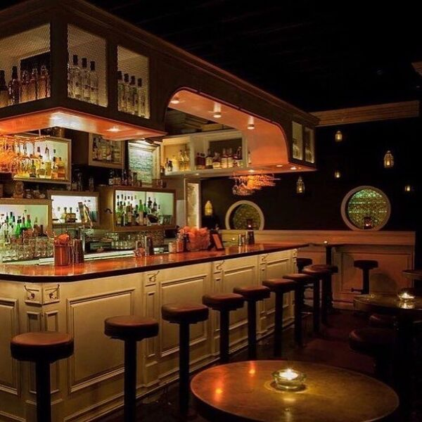 Casa's dim speakeasy aesthetic makes for premium cocktail sipping and a cheers with your neighbor on the next barstool