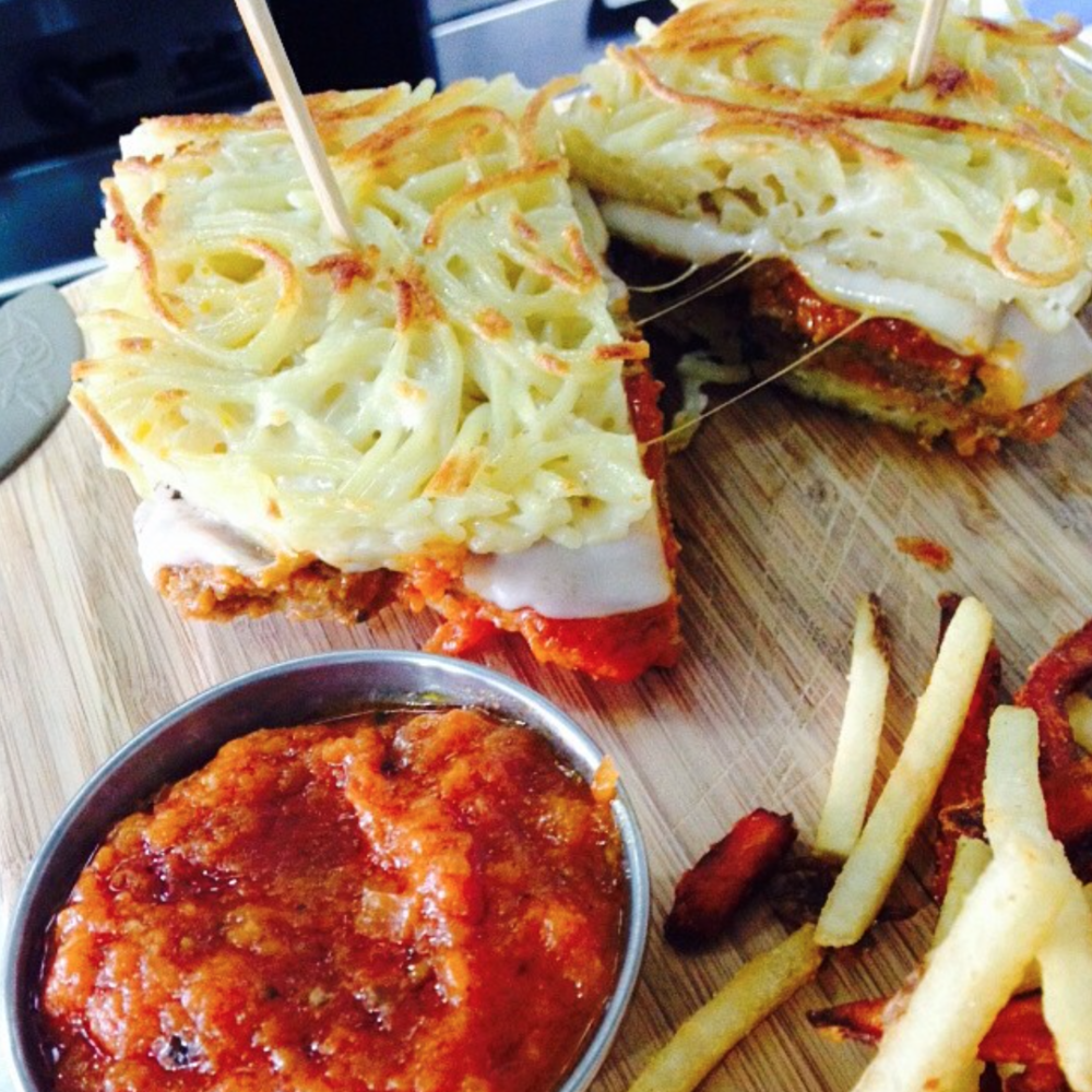 Carving Board's Spaghetti and Meatballwich | Photo courtesy of David Adir via Instagram