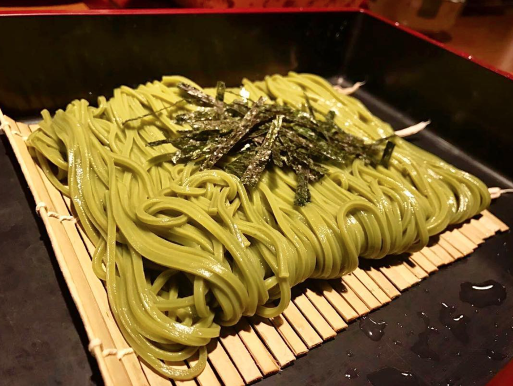 Morinoya's traditional Green Tea Soba noodle dish | Photo courtesy of @kkkirsten_ via Instagram