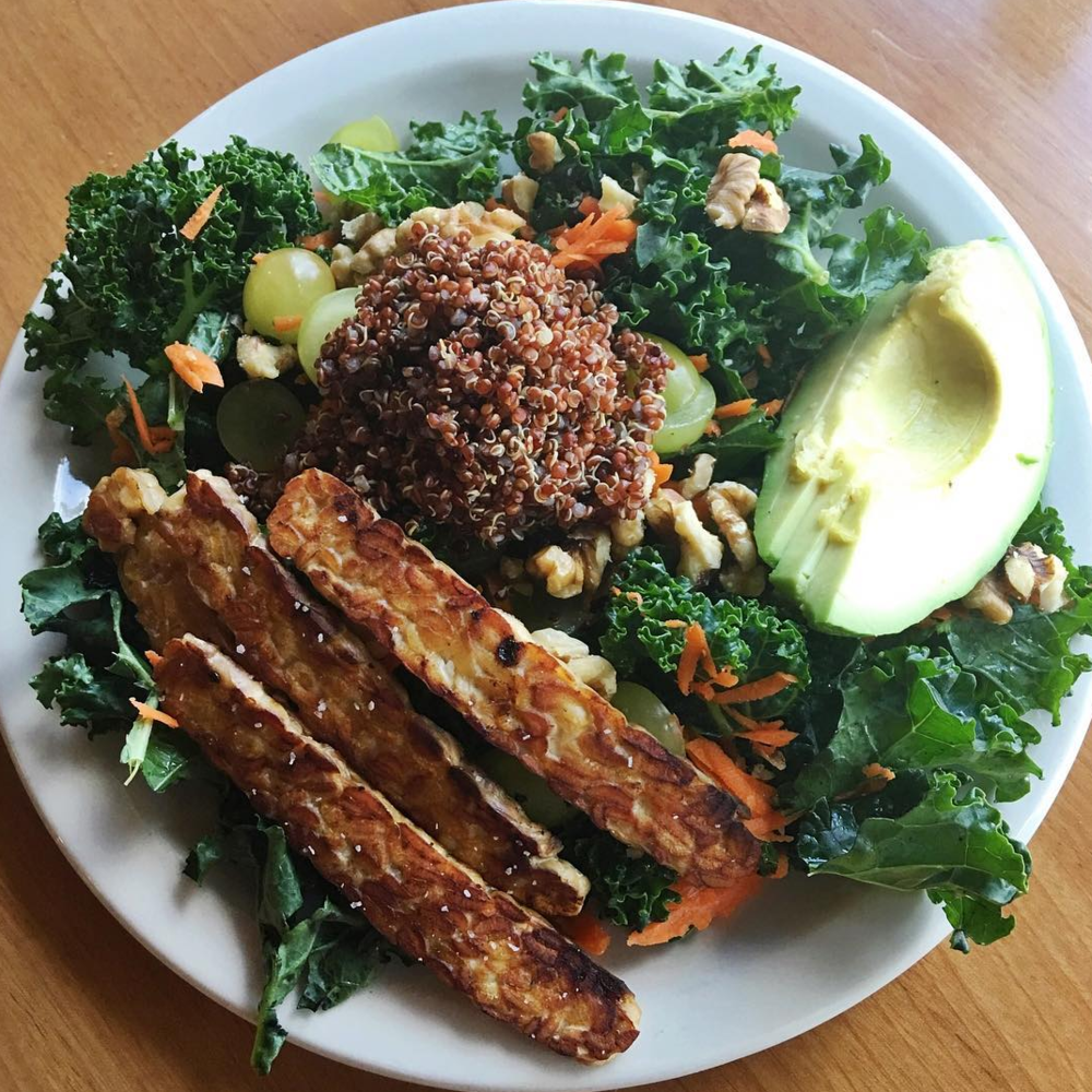 Green Power Salad with Smoky Tempeh at Mead's | photo courtesy of Mead's on instagram