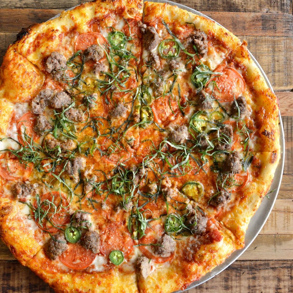 'J'all Up In Your Meat' signature pizza via @occomestibles | photo courtesy of @occomestibles