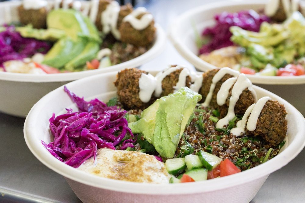 The powerfully filing 'Ultimate Hummus Bowl' from Falasophy, located at 4th Street Market
