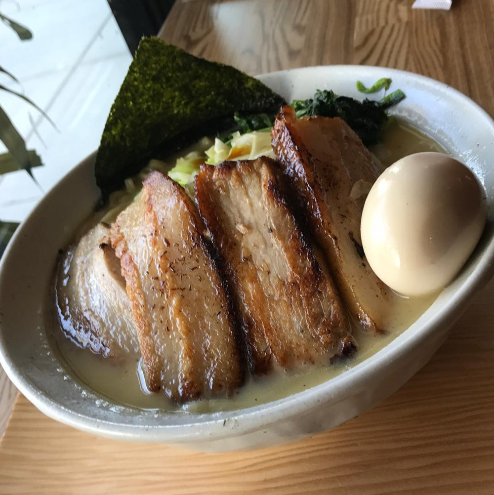 Tonkotsu Ramen with extra pork chashu and egg | photo courtesy of Hiro Nori