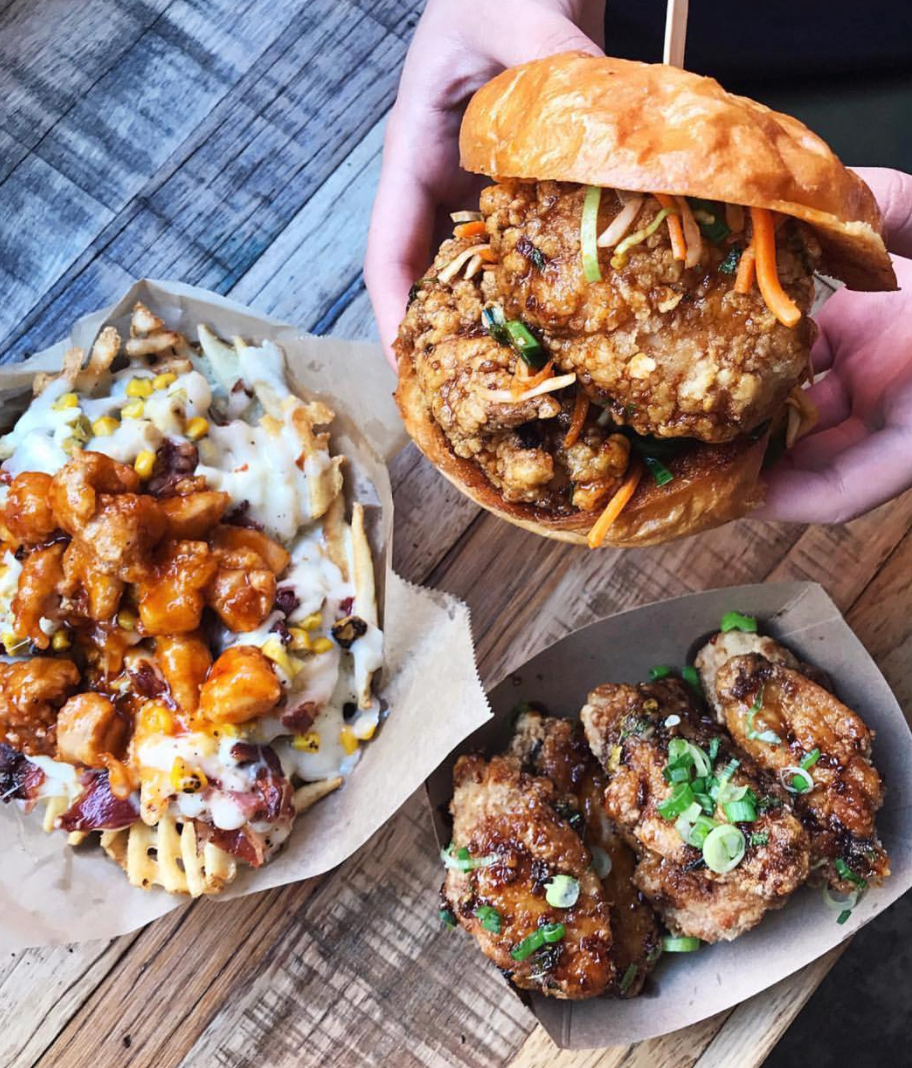 A few of the drool-worthy menu offerings at WINGMAN | photo courtesy of @celinelinarte