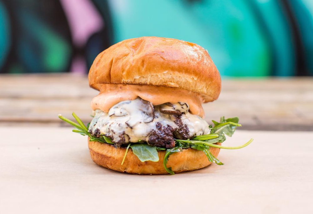 Chipotle Mushroom Burger for the veggie-lovers out there | photo courtesy of CIVIC