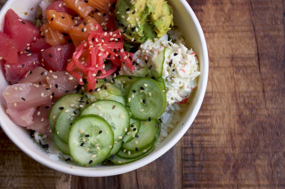 MAR's Rainbow Poke Bowl | photo courtesy of 100eats