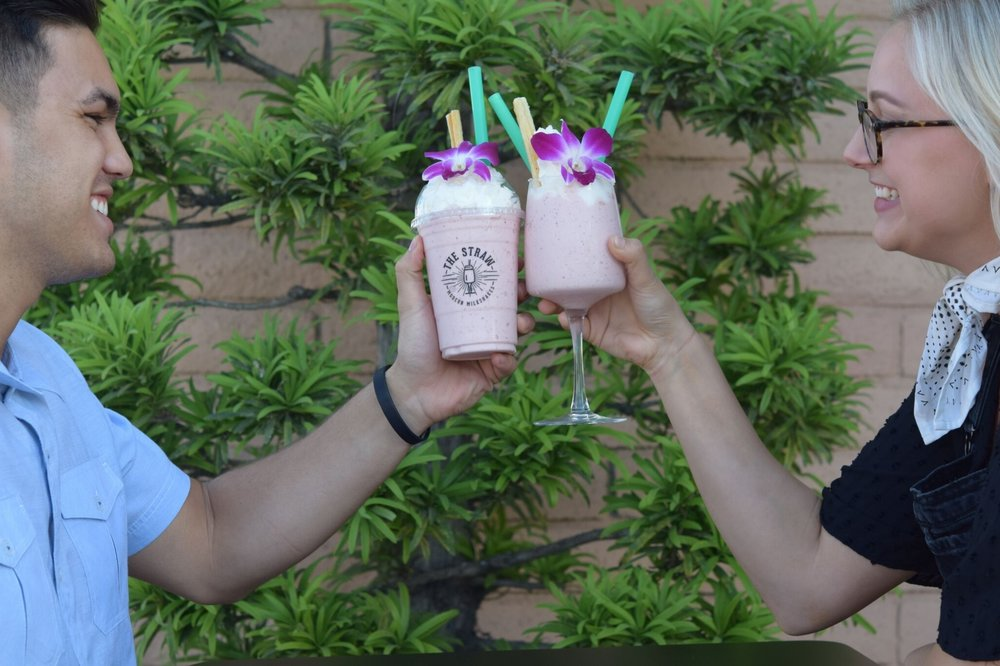 The Straw, located in Costa Mesa, is straying from the ordinary with their modern milkshakes offering something unique for everyone to slurp on | photo courtesy of 100eats