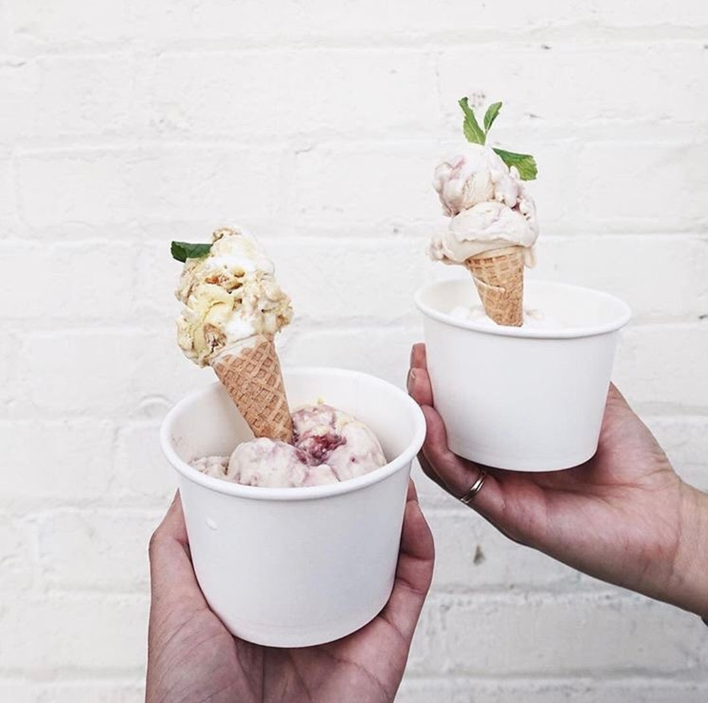 Milk Man offers their homemade ice cream flavors daily at Downtown Santa Ana's newest food hall, McFadden Public Market | photo courtesy of @alliosn