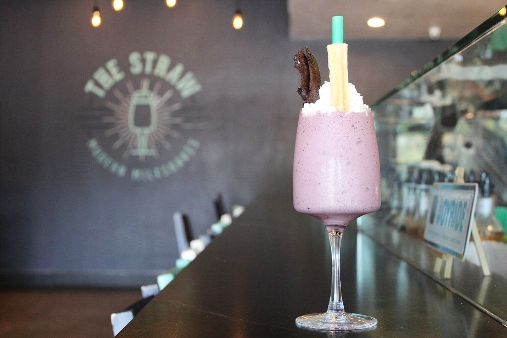 The Straw's 'Storm' is a threesome chocolate shake with blackberries | photo courtesy of 100eats