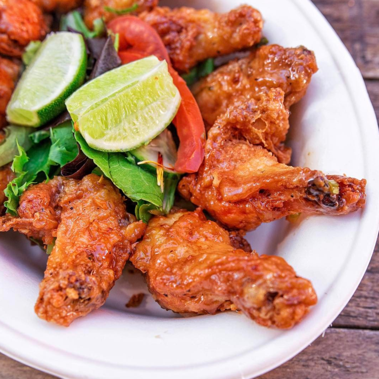 Vietnamese Garlic Butter wings at Red Envelope, Santa Ana CA | photo courtesy of Red Envelope
